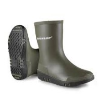 Dunlop Kids Mini Wellie Green/Black