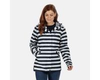 Bertille Lightweight Hooded Waterproof Jacket Navy Stripe