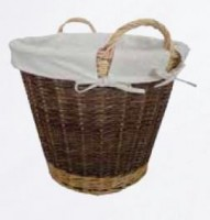Lined Willow Log Basket