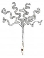 Silver Glitter Spiral Ornament