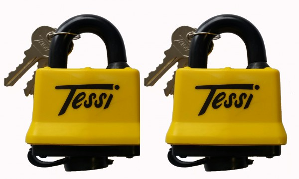2 X 50mm Thermo Covered Laminated Steel Locks