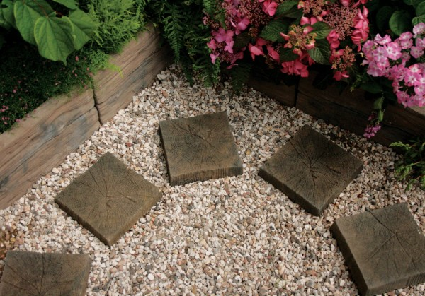 Square Timber Stepping Stone