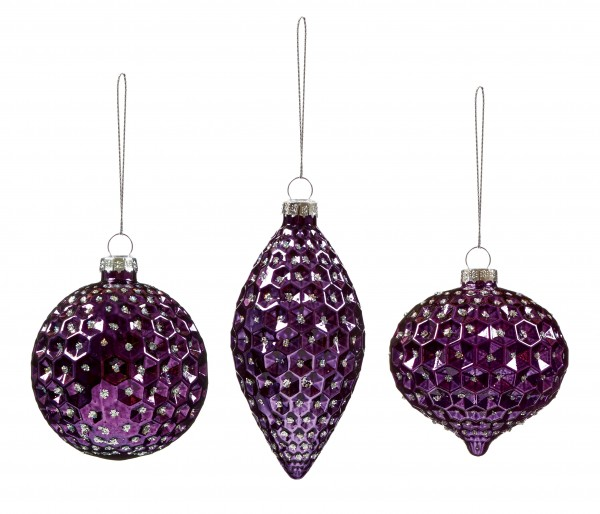 Purple Dimple Bauble - Assorted