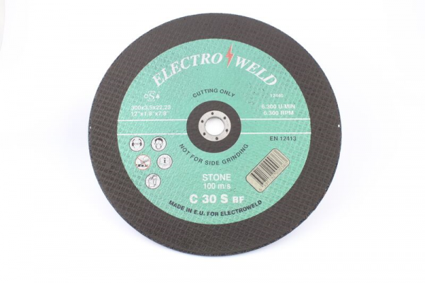 "Electroweld 12"" x 7/8"" Stone Cutting Disc"
